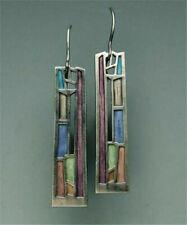 Multi-Color Gemstone Women 925 Silver Ear Hook Long Dangle Earrings Party Gifts