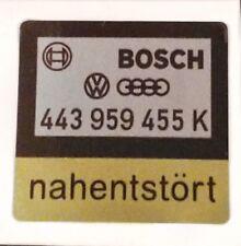 VW AUDI ENGINE RADIATOR FAN STICKER 100 CC UR QUATTRO WB WR B2 C3 443 959 455 K