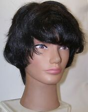 Women's Wig Off Black Short Pixe Wig Natural Look Color 1B Coarse Textured Hair