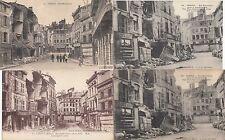 Lot 4 cartes postales anciennes GUERRE 14-18 WW1 VERDUN rue beaurepaire