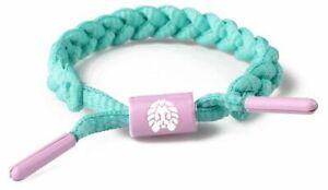 RASTACLAT Now Later Watermelon Pink Mini Braided Shoelace Bracelet RCW001NWLT