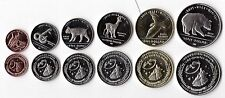 LOS COYOTES INDIAN VILLAGE - 6 DIF UNC COINS SET: 1 CENT - 1$ 2011 YEAR ANIMALS