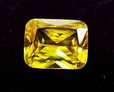 5.25 Ct Natural Oval Cut Cambodia Neon Zircon Yellow Color Gemstone  A