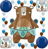 Baby Shower Party We Can Bearly Wait It's a Boy Supplies Birthday Balloon Dec...