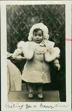 Young Girl Bonnet Fur Coat   Ri.399