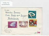 Japan to netherlands 1959 stamps cover Ref 8666