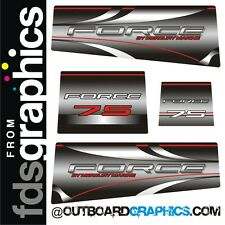 Mercury Force 75hp outboard graphics kit - fades style