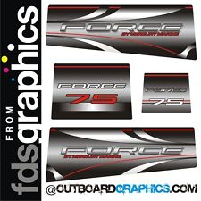 Mercury Force 75hp outboard decals/sticker kit - fades style