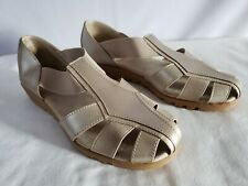 752e6e0a3f19 I LOVE COMFORT Champagne Beige Color Fisherman Shoes Sandals Worn Once  9 M  NICE