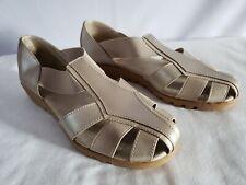 9ec6c21f3faa I LOVE COMFORT Champagne Beige Color Fisherman Shoes Sandals Worn Once  9 M  NICE