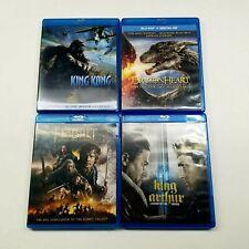 Blu Ray Lot 4 MOVIES: KING KONG, HOBBIT, DRAGONHEART & KING ARTHUR - FREE SHIP!