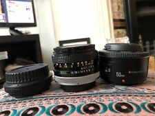 CANON FD 50mm f1.8 lens with EF adapter AND yongnuo 50mm