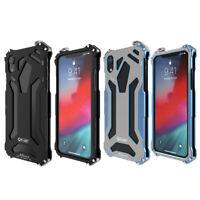 R-JUST Luxury Case für IPhone XR Aluminium Metall Heavy Duty RüStungsabdeck Y3P5