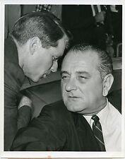Robert Kennedy and Lyndon Johnson 1967 original press photo of 1960 image
