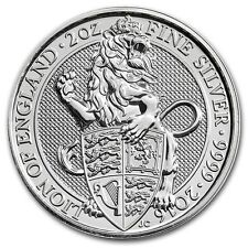 Queen's Beast: The Lion - 2016 Britain 2 oz Silver Bullion Coin in Capsule