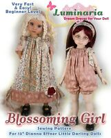 "Little Darling Doll Dress Clothes Pattern for 13"" Dianna Effner My Meadow Avery"