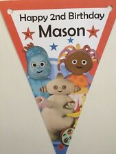 Xl Personalised In The Night Garden bunting/ party decoration/ birthday