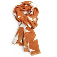 Mustard White Star Scarf Stars Scarves Wrap Shawl Ladies Warm Bright Winter