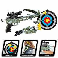 Archery Crossbow Includes Arrows, Military Toy Set w/Target for Kids Gift