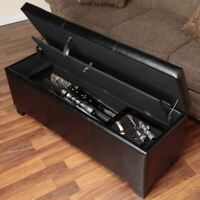 Wooden Hope Chest Hidden Compartment Storage Case Cabinet