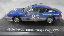 DV8535 HACHETTE ELIGOR 1/43 RENAULT ALPINE V6 GT TURBO EUROPA CUP 1985 #85