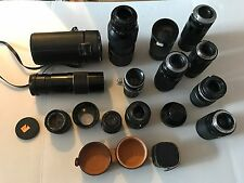 Lot 14  Vintage Cameras Lenses-Soligar, Aires,Tamron, Cannon and More
