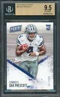2016 panini kickoff #52 DAK PRESCOTT dallas cowboys rookie card BGS 9.5