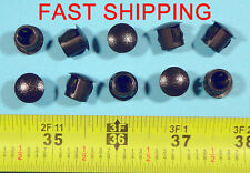 "10 Black Nylon HOLE PLUGS 3/8""  Locking Rigid Plug push-in round 10 pcs. flush"