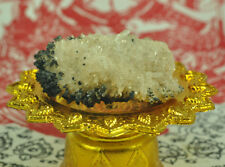 Father of Quartz crystal fang Lucky Protection gemstone Stone Relics Thai amulet