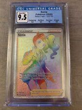 Pokémon Rebel Clash Sonia Rainbow Rare Full Art CGC 9.5 Gem Mint