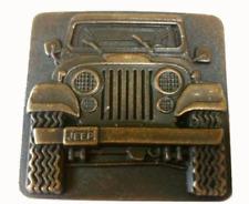 Vtg Jeep Belt Buckle Convertible Wrangler Cherokee Lover Parts Gear Men's 1979