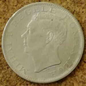 Romania 500 Lei Coin 1944 Silver