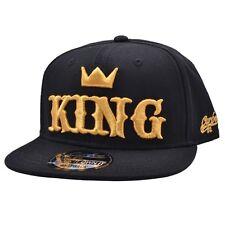 Kids King Snapback Cap Baseball Caps Gold Black Carbon212 OneSize 48cm to 56cm