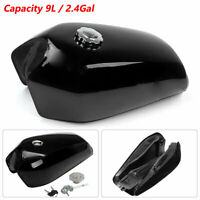 9L/2.4 Gallon Vintage Motorcycle Cafe Racer Seat Fuel Gas Tank With Cap Switch