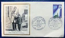Enveloppe 1é jour Burin d'or du 5 6 1971 Angers Aide familiale rurale