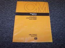 John Deere 301A Loader Tractor Original Owner Operator User Manual Book OMT48527