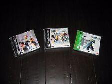 Final Fantasy VII 7 VIII 8 IX 9 PS1 Playstation 1 Set of Games Lot