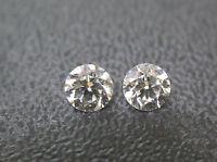 3mm 0.20tctw Natural Loose Brilliant Cut Diamond Pair Super F Color VS Clarity