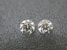 3mm 0.20tctw Natural Loose Brilliant Cut Diamond Pair Super F Color VS Clarity