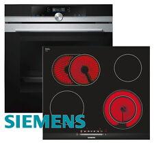 Herdset Siemens Autark Einbaubackofen + Glaskeramik Kochfeld Facette 60cm NEU