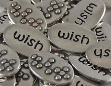 Wish Braille Word Pebble - Bulk Lot of 10
