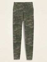 Old Navy Women's High-Waisted Balance Yoga Leggings Green Camo Size S