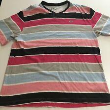 ECKO UNLTD Mens 2XL T-Shirt Striped Rhino Logo V-neck Beach