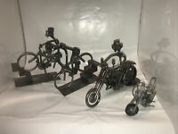 Hinz KunstGerman Nuts & Bolts 4 Sculpture's Motorcycle's and Bike's