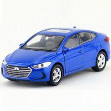 1:36 Hyundai Elantra Model Car Metal Diecast Kids Toy Vehicle Pull Back Blue