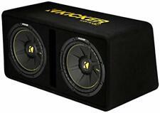 Kicker - 44DCWC122 - Dual 12-Inch 1200 Watt Loaded Subwoofer Enclosure