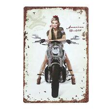 Harley Davidson Metal Poster Tin Sign Pin Up Sexy Girl American Motorcycle Motor