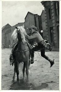 """~1940's ROY ROGERS & His Horse """"Trigger"""" Republic Pictures - B&W"""