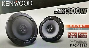 "NEW Kenwood KFC-1666S 6.5"" 2-Way Coaxial Car Audio Speakers (PAIR) 6-1/2"""