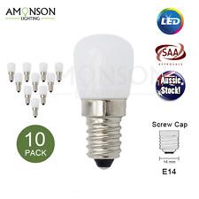 NEW 2W LED Bulb E14 Screw Head Globe 240V Milky 10 Pack